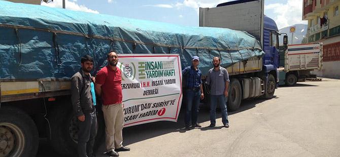 Erzurum'dan Suriye'ye Yardım Tırı