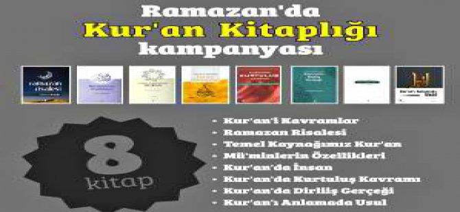 """Kur'an Ayı Ramazan'da """"Kur'an Kitaplığı"""" Kampanyası!"""