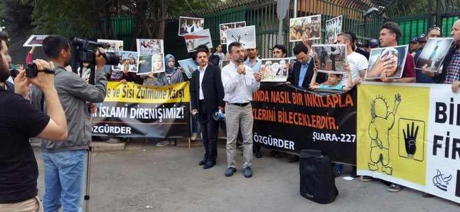 Sisi Cuntasının İdam Kararları Ankara'da Protesto Edildi