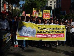 Maraş'ta Darbeci Sisi'nin İdam Kararları Protesto Edildi