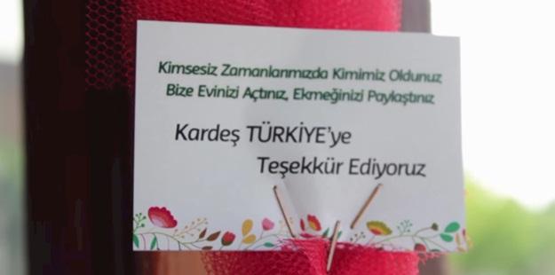 """""""Kardeş Türkiye'ye Teşekkür Ediyoruz"""""""