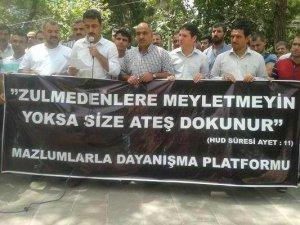 Siverek'te Kobani'ye Yapılan Saldırıya Protesto