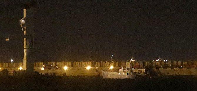Gazze'ye Özgürlük Filosunun Öncü Gemisi Aşdot Limanında