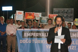 Sapancalı Müslümanlar Çin Emperyalizmini Protesto Etti