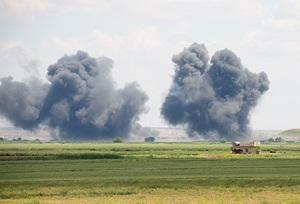 Koalisyon Güçleri  Rakka'ya Hava Saldırıları Düzenledi