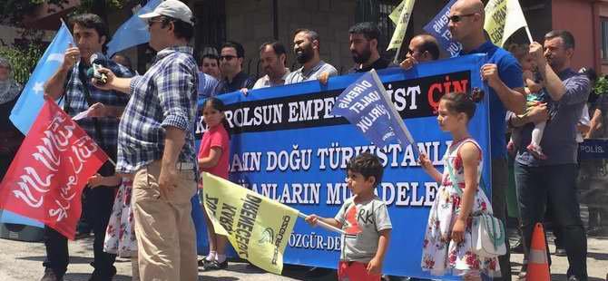 Ankara'da Çin'in D. Türkistan Zulmüne Protesto