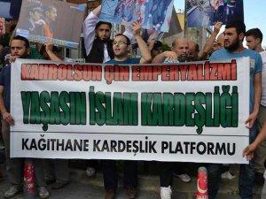 Kâğıthane'de Doğu Türkistan Zulmüne Protesto