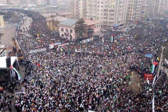 Diyarbakır'da On Binler Gazze Direnişini Selamladı