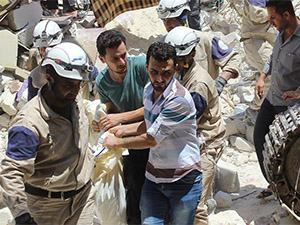 Esed, Al-Bab'a Varil Bombası Attı: Onlarca Ölü (VİDEO)