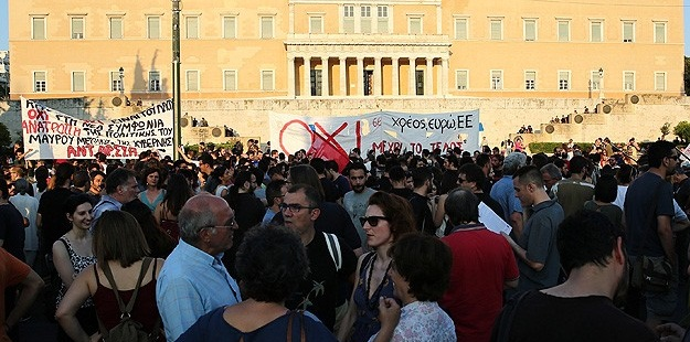 "Atina'da ""Kurtarma Paketi""ne Protesto"