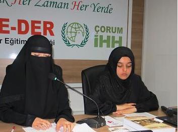 Çorum'da Doğu Türkistan Semineri