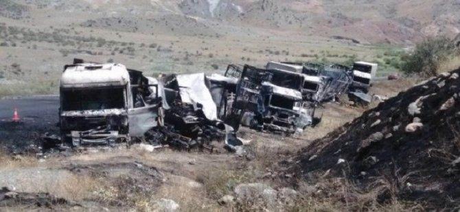 PKK'lılar Kars'ta Tır Şoförlerini Alıkoymuş
