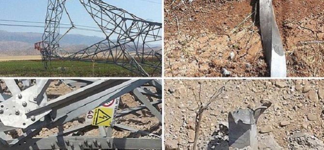 Cizre-Silopi Elektrik İletim Hattına Sabotaj