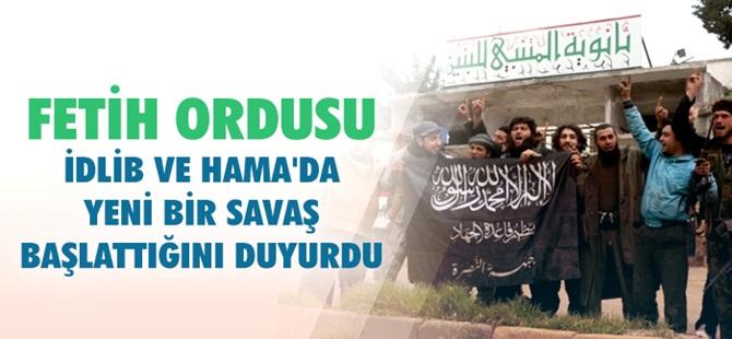 Fetih Ordusu'ndan İdlib ve Hama'da Yeni Operasyonlar