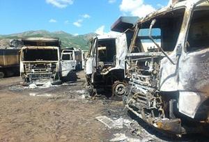 Kars'ta PKK'lı Saldırganlar Yol Kesip Araç Yaktı!