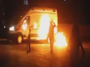 Hasta Almaya Gelen Ambulansa PKK Saldırısı!