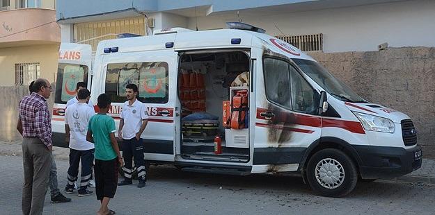 Mardin'de Ambulansa Molotofkokteylli Saldırı!
