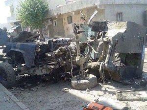 Silopi'de Zırhlı Polis Aracına Mayınlı Saldırı