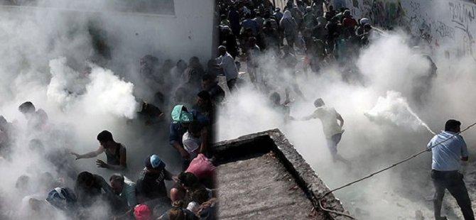 Yunan Polisi, Göçmenlere Yangın Söndürücü İle Saldırdı