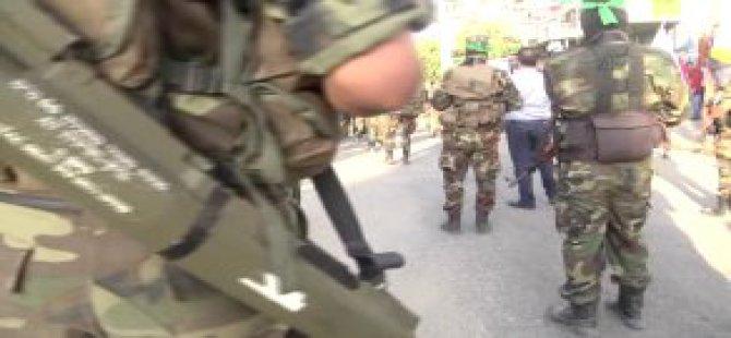 El-Kassam Beyt Hanun'da Gövde Gösterisi Yaptı