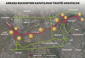 Ankara Bulvarı'nın Kapatılması Trafiği Aksatacak!