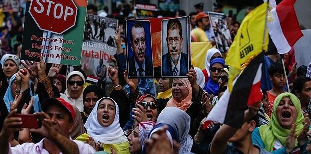 Rabia ve Nahda Katliamları New York'ta Protesto Edildi
