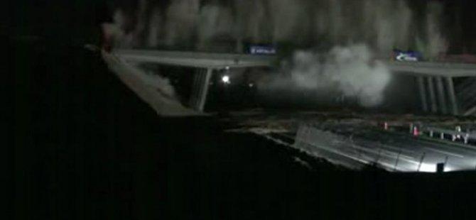 Varto'da PKK İş Makinesiyle Köprü Yıktı
