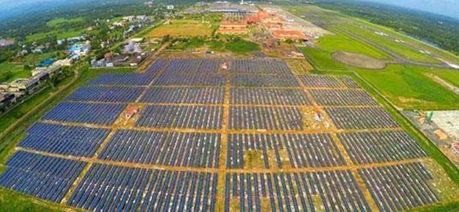 Tamamen Güneş Enerjisiyle Çalışacak İlk Havaalanı
