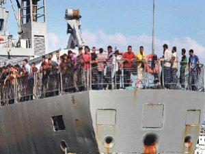 Kos Adasına Sığınan Mülteciler Selanik Yolunda