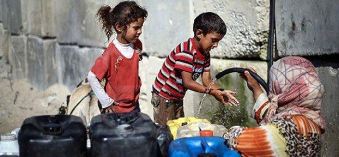İsrail'in Saldırıları Binlerce Kişiyi Susuz Bıraktı