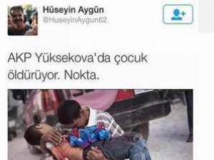 Esedsever Aygün'den Suriyeli Çocuk Fotoğrafıyla PKK Propagandası
