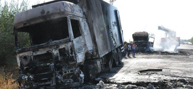 PKK'lılar Van'da 3 Aracı Yaktı