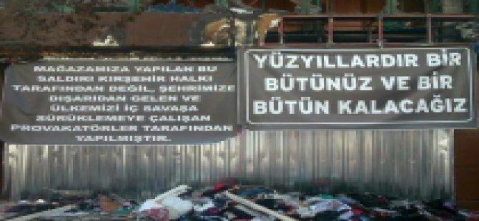 Kırşehir'de İşyeri Yakılan Esnaftan Tepki