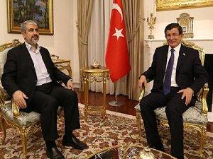 Başbakan Davutoğlu Halid Meşal'le Görüştü