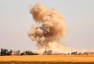 Esed Güçleri Yerleşim Yerlerini Bombalıyor