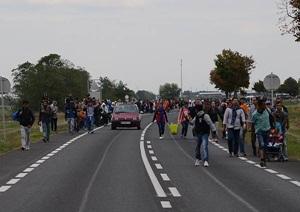 """""""Sığınmacı""""lar Viyana'ya Doğru Yürüyüşe Geçti"""