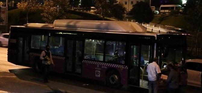 Beyoğlu'nda Belediye Otobüsüne Molotofkokteylli Saldırı!