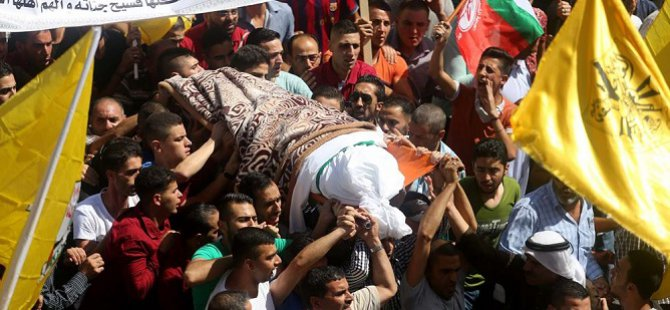 Filistinli Şehid Hedil el-Heşlemun Toprağa Verildi