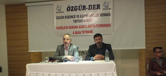 Tatvan Özgür-Der'in Cuma Seminerleri Başladı