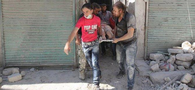 Suriye'de Rejim Uçakları Kıyım Yaptı Çok Sayıda Ölü Var