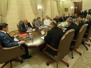 Davutoğlu Başkanlığında Güvenlik Toplantısı Yapıldı