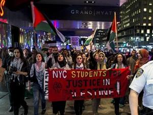 New York'ta Filistin Halkına Destek Eylemi