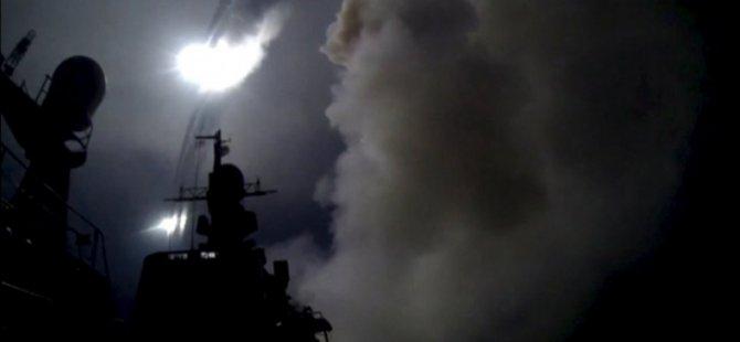 'Rusya Suriye'de 7 Hedefe 18 Füze Fırlattı'