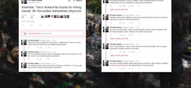 Ankara'daki Saldırıyı Dün Geceden Yazan Hesap Kapatıldı