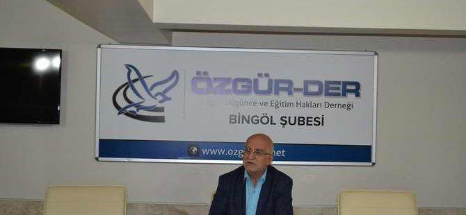 """Bingöl Özgür-Der'de """"Kur'an'ı Anlamada Usul"""" Semineri"""