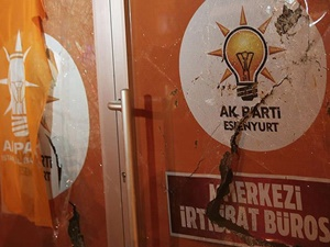 Esenyurt'ta AK Parti Seçim Bürosuna Saldırı!