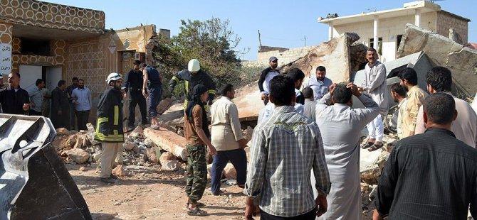 Rusya Suriye'de Sivilleri Katletti: 10 Ölü
