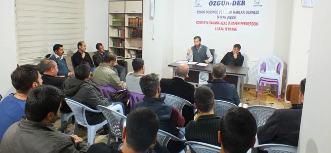 """Tatvan Özgür-Der'de """"Kur'ân'da Günah"""" Semineri Yapıldı"""