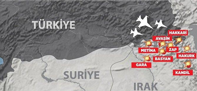 Hakkari ve Irak'ın Kuzeyindeki PKK Kampları Vuruldu