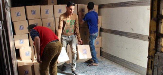 Suriye'ye 6 TIR İnsani Yardım
